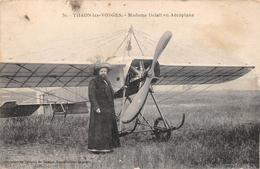 ¤¤  -   THAON-les-VOSGES   -  Madame DELAIT En Aéroplane  -  Avion , Aviation , Aviatrice    -  ¤¤ - Thaon Les Vosges