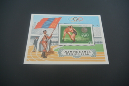 K30312 -Bloc MNH  Mongolia - 1968 - Olympics Mexico - Summer 1968: Mexico City