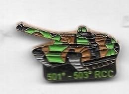 Pin's  Char  Militaire  501 è - 503 è   R C C  Régiment De Chars De Combat - Militari