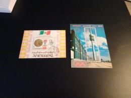 K30447 - 2 Blocs   Used Yemen    -  Olympics Mexico And Munich - Zomer 1968: Mexico-City