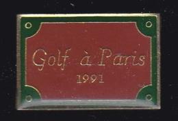 63451-Pin's.Golf à Paris.plaque De Rue. - Golf