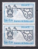N° 1927 Journée Du Timbre Enseigne Du Relaisde Poste à Marckolsheim Une Paire De 2 Timbres Neuf  Impeccable - Neufs