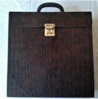 Valise Pour Rangement Disques Vinyles 33T - Objet Vintage - 70ies - Accesorios & Cubiertas