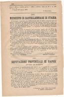 1877 CASTELLAMMARE DI STABIA DELIBERA CONSIGLIO COMUNALE DAZIO SULLA NEVE !! - Alte Papiere