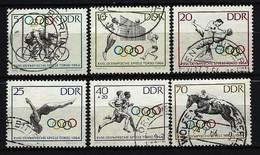 DDR - Mi-Nr. 1033 - 1038 Olympische Sommerspiele Tokio Gestempelt - Gebraucht