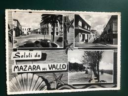 SALUTI DA MAZARA DEL VALLO (TRAPANI)  1956 - Mazara Del Vallo