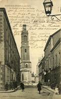 CPA - France - (44) Loire Atlantique - Nort Sur Erdre - Le Clocher Et La Rue Des Halles - Nort Sur Erdre
