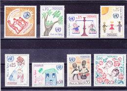 MONACO 1963 CHARTE DES ENFANTS ONU Yvert 599-606 NEUF** MNH - Monaco