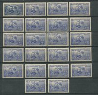 1938 - FRANCIA/COLONIES - P.M.CURIE - GRANDES SERIES - 22 VAL.- CPL.SET -  M.N.H.- LUXE !! - 1938 Pierre Et Marie Curie
