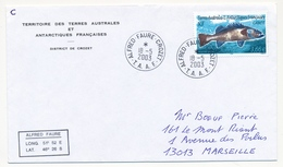 TAAF - Enveloppe Affr 3,66 Cabot - Obl Alfred Faure Crozet - 18/05/2003 - Lettres & Documents