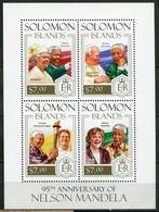 Salomonen Mi# 2272-5 Postfrisch MNH - QEII, Pope, Merkel, Nelson Mandela - Salomon (Iles 1978-...)