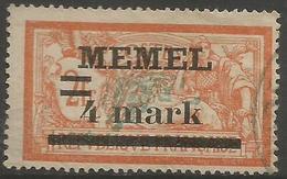 Memel (Klaipeda) - 1920 Merson Overprint 4m/2f Used   Mi 31  Sc 31 - Gebraucht