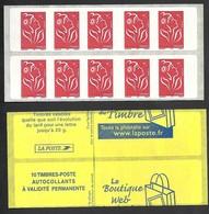 Carnet Marianne De Lamouche N° 3744 C2  Découpe Décalée  Livraison Gratuite - 2004-08 Marianne (Lamouche)