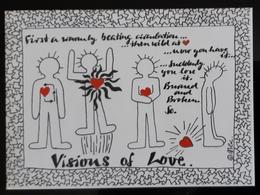 Visions Of Love Carte Postale - Advertising