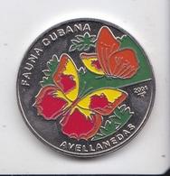 MONEDA DE CUBA DE 1 PESO DEL AÑO 2001 FAUNA CUBANA (COIN) MARIPOSA-BUTTERFLY - Cuba
