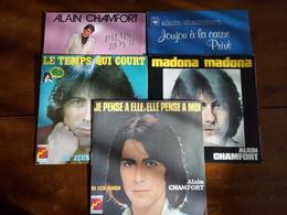 Lot De 5 Disques Vinyle 45 Tours ALAIN CHAMFORT - Other