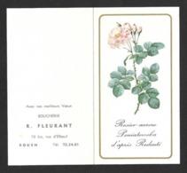 Petit Calendrier De Poche 1968.   Rosier.  Fleur.  Boucherie Fleurant à Rouen (76). - Calendriers