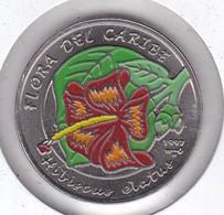 MONEDA DE CUBA DE 1 PESO DEL AÑO 1997 FLORA CARIBE - FLOR-FLOWER (COIN) NUEVA-MINT - Cuba