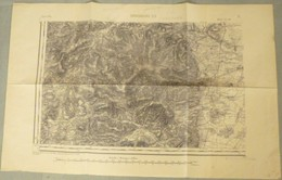 Carte E.M. Strasbourg  S.O. (Obernai) - 1/80 000ème - 1837 / 1911. - Carte Topografiche