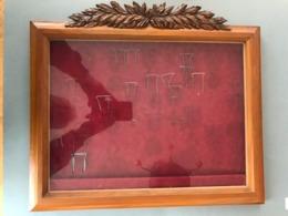 CADRE VITRINE Pour Accrocher Des Médailles + Pose De Médaille De Table Dimension Hauteur 420 X Largeur 480 Et 30 Mm - Médailles & Décorations