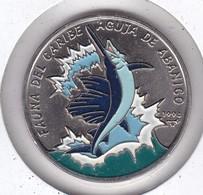 MONEDA DE CUBA DE 1 PESO DEL AÑO 1994 FAUNA CARIBE - PEZ-FISH (COIN) NUEVA-MINT - Cuba