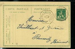 Carte Obl. N° 61.   Obl. Chatelineau 11/08/1919  (fortune) - Cartes Postales [1909-34]