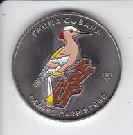 MONEDA DE CUBA DE 1 PESO DEL AÑO 2001 FAUNA CUBANA - PAJARO-BIRD (COIN) NUEVA-MINT - Cuba
