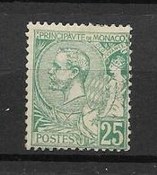 MONACO-A SAISIR - BIEN MOINS DE 10% DE LA COTE- TRES BEAU TIMBRE NEUF * * N°16 COTE 510 €- DE 1891-94- SCAN VERSO - Monaco