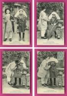 Série-69P49 Série  LOU PITI LIMOUSI, Enfants Du Limousin, Petit Garçon Avec Parapluie, Fillette Avec Panier, Patois, Cpa - Ohne Zuordnung