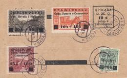 Yugoslavia 1919 Provisional Postal Card With Provisional Stamps - Briefe U. Dokumente
