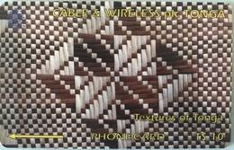 TONGA  -  Phonecards  - Cable § Wireless  - Texture Of Tonga  -  T$10 - Tonga