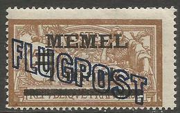Memel (Klaipeda) - 1921 Merson FLUGPOST Overprint Shift 1m/50c MH *   Mi 43  Sc C3 - Unused Stamps