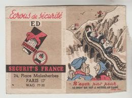 LOT 16022030 CALENDRIER PETIT FORMAT 1949 - Ecrous De Sécurité E.D 24 Place Malesherbes PARIS 17° - Petit Format : 1941-60