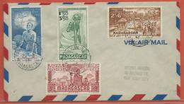 MADAGASCAR LETTRE DE 1942 DE TANANARIVE POUR NEW YORK - Madagascar (1889-1960)