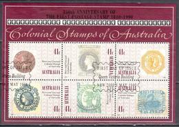 Australia 1990 - Colonial Stamps - Mi.ms 10 - Used - Blocks & Sheetlets