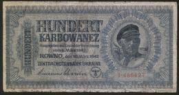 Ukraine 100 Karbovanez 1942 Pick 55 VG - Ucrania