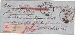 NORDDEUTSCHER BUND 1871 LETTRE RECOMMANDEE DE CAUB - Norddeutscher Postbezirk (Confederazione Germ. Del Nord)