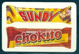 1990 Pocket Calendar Calandrier Calendario Portugal Chocolates Des Chocolats Nestlé Sundy Chokito - Calendars