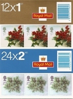GREAT BRITAIN, FOLDED BOOKLET, 2002, LX 23/24, Christmas - Carnets