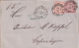 NORD DEUTSCHER BUND 1871 LETTRE DE HAMBURG - Norddeutscher Postbezirk