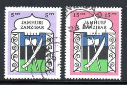 INDEPENDANT - YT 302 304 OBLITERES - Zanzibar (1963-1968)