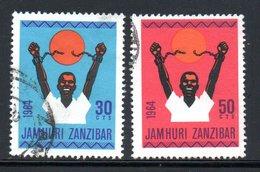 INDEPENDANT - YT 307 309 OBLITERES - Zanzibar (1963-1968)
