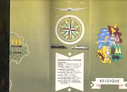 Dépliant Touristique : BELGIQUE  Illustré C.1950 - Reiseprospekte