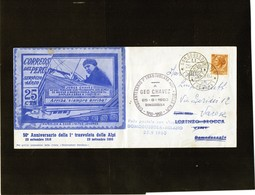 CG18 - 1960 Italia - 50° Ann. I° Trasvolata Delle Alpi -  Geo Chavez - Aerei