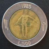 SAINT MARIN - SAN MARINO - 500 LIRE 1985 - Guerre à La Drogue - KM 181 - Saint-Marin