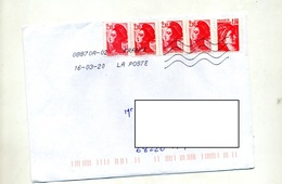 Lettre Flamme Chiffree Sous Code Sur Sabine  Gandon - Mechanical Postmarks (Advertisement)