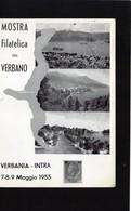 CG18 - 1955 Italia - Mostra Filatelica Del Verbano - Verbania 8/5/1955 - Filatelia & Monete