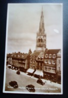 Angleterre -Carte Postale Ancienne - Market Place And Paris Church, Newark - England