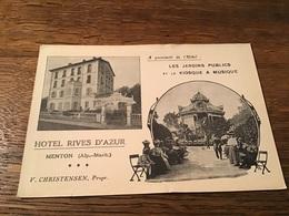 CPA Hôtel Rives D'Azur Menton - Menton