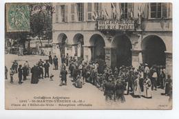 SAINT MARTIN VESUBIE (06) - PLACE DE L'HOTEL DE VILLE - RECEPTION OFFICIELLE - Saint-Martin-Vésubie